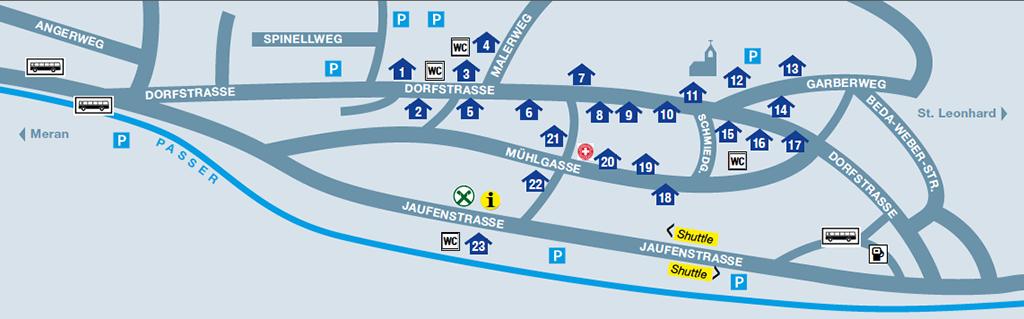 Lageplan 25. Martiner Dorffest 2012